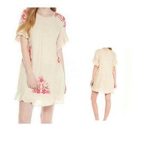 Wonderly Embroidered Dobby Short Dress Size XS